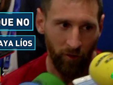 Messi y Piqué, al mando