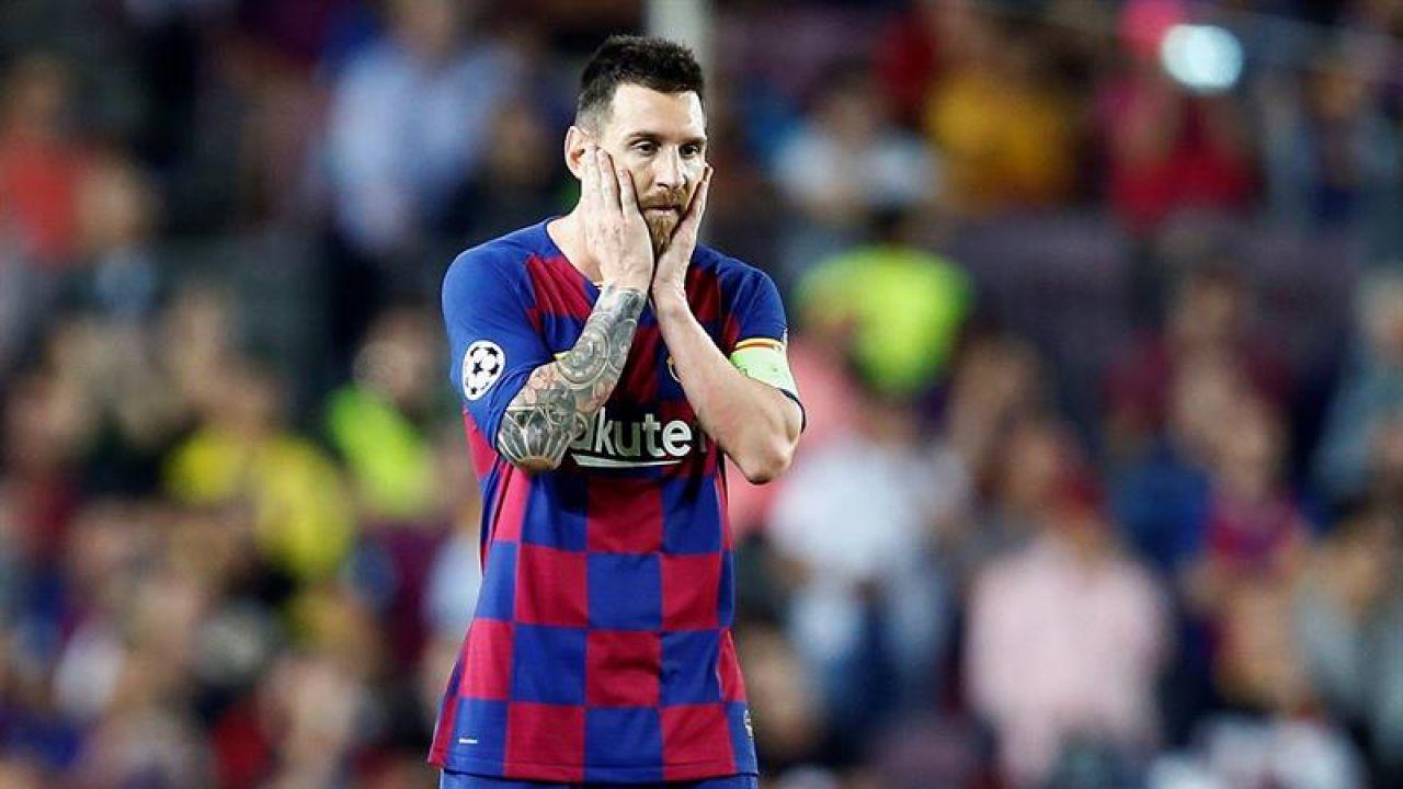 Leo Messi, en una acción ante el Inter.