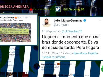 """Un exjugador del Barcelona amenaza a José Luis Sánchez: """"Llegará el momento que no sabrás dónde esconderte"""""""