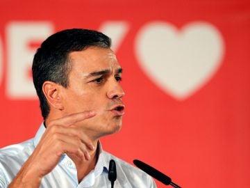 El presidente del Gobierno en funciones y candidato socialista, Pedro Sánchez