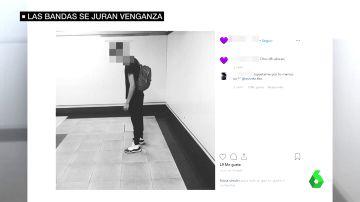 Publicación de una banda latina identificando a un rival