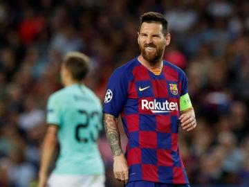 Leo Messi, durante el partido contra el Inter