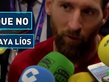 Messi y Piqué. al mando