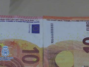 La Policía alerta de una nueva estafa con billetes falsos de 10 euros