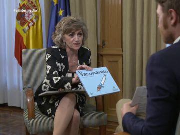 """La respuesta de la ministra Carcedo a Burque sobre los antivacunas: """"Necesitan una vacuna contra la ignorancia"""""""