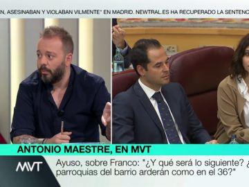 """Antonio Maestre, sobre Ayuso: """"Utiliza una retórica franquista. La repite porque no tiene pose intelectual para armar un argumento contrario"""""""