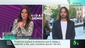"""Miguel Vila, tras considerarse 'nulo' su despido: """"Cuando pisotean mis derechos me da igual que la empresa se llame Podemos, los voy a defender"""""""