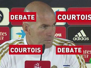 Zidane explota hablando de Courtois