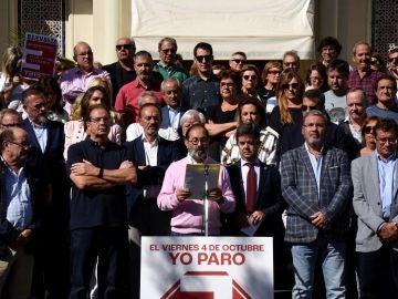 España vaciada: lectura del manifiesto tras el paro en Huesca