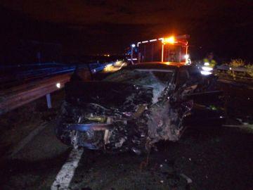 Imagen del accidente en Navarra