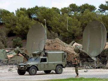 """Un vehículo militar """"Lince"""" en Líbano"""