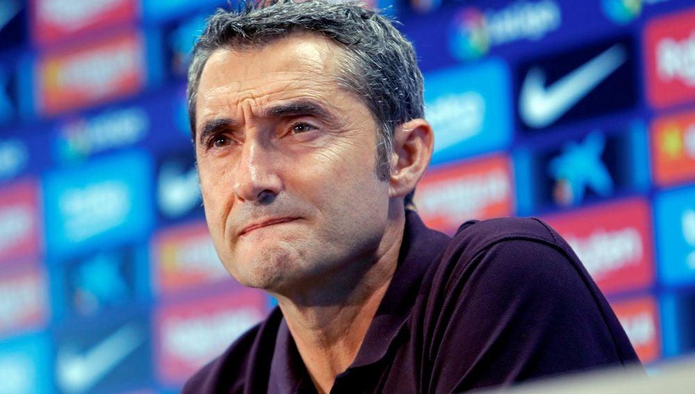 Ernesto Valverde, en la rueda de prensa previa al partido ante el Sevilla
