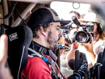 Fernando Alonso tras la jornada 2 del rally de Marruecos