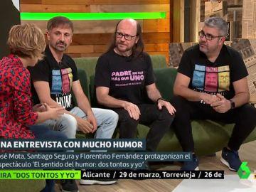 Cristina Pardo, José Mota, Santiago Segura y Florentino Fernández