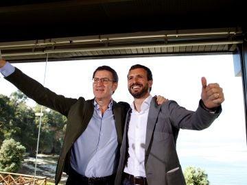 Pablo Casado junto a Alberto Núñez Feijóo