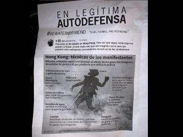 """Panfleto de los CDR para actuar en """"legítima autodefensa"""""""