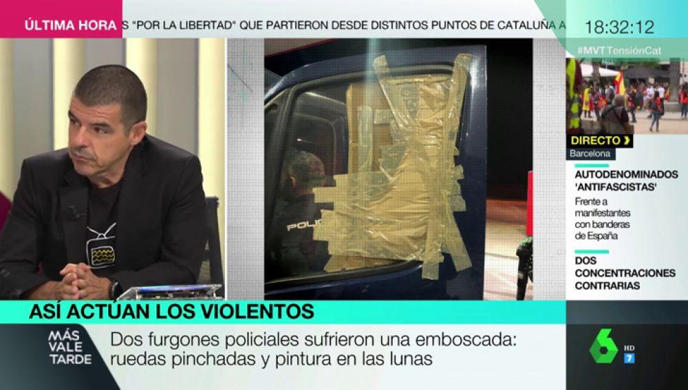 Dagas, pintura y emboscadas: las tácticas que están utilizando algunos grupos en las protestas de Cataluña