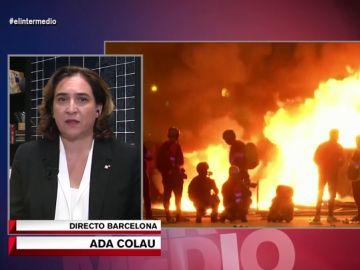 Estas son las cifras de los daños que dejan las protestas de Barcelona: Ada Colau lo explica en El Intermedio