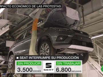 """SEAT interrumpe la producción en Martorell por la """"seguridad de sus trabajadores"""" tras las jornadas de protesta"""