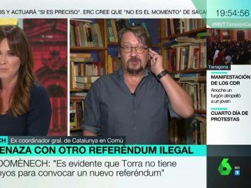 """Xavier Domènech: """"Hay una situación de excepcionalidad en Cataluña por una sentencia que nunca debería haberse producido en esos términos"""""""