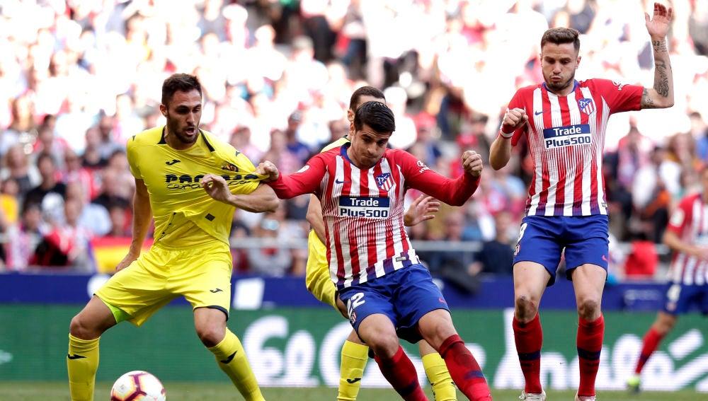 Momento del Atlético de Madrid-Villarreal de la temporada 2018/2019