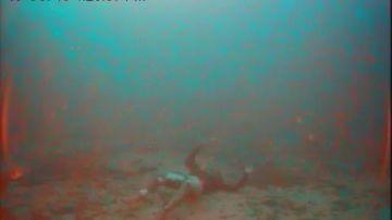 El cadáver de una persona tras un naufragio en Lampedusa