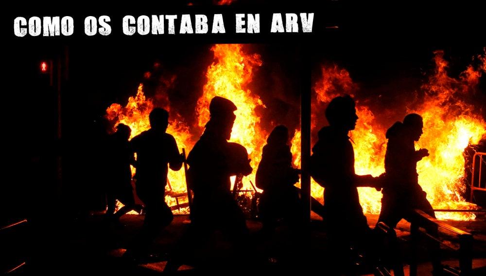 Manifestantes cortan las carreteras en Cataluña