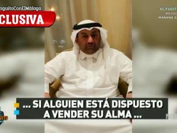 """El jeque del Málaga, en exclusiva en 'El Chiringuito': """"Si alguien está dispuesto a vender su alma..."""""""