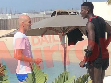 Zidane y Pogba, reunidos en Dubai