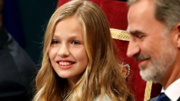 La princesa Leonor, en la ceremonia de entrega de los Premios Princesa de Asturias 2019