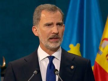 El Rey Felipe pronuncia su discurso en los Premios Princesa de Asturias