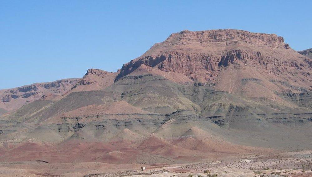 Acumulaciones de basalto en Marruecos relacionadas con la provincia magmática del Atlántico central
