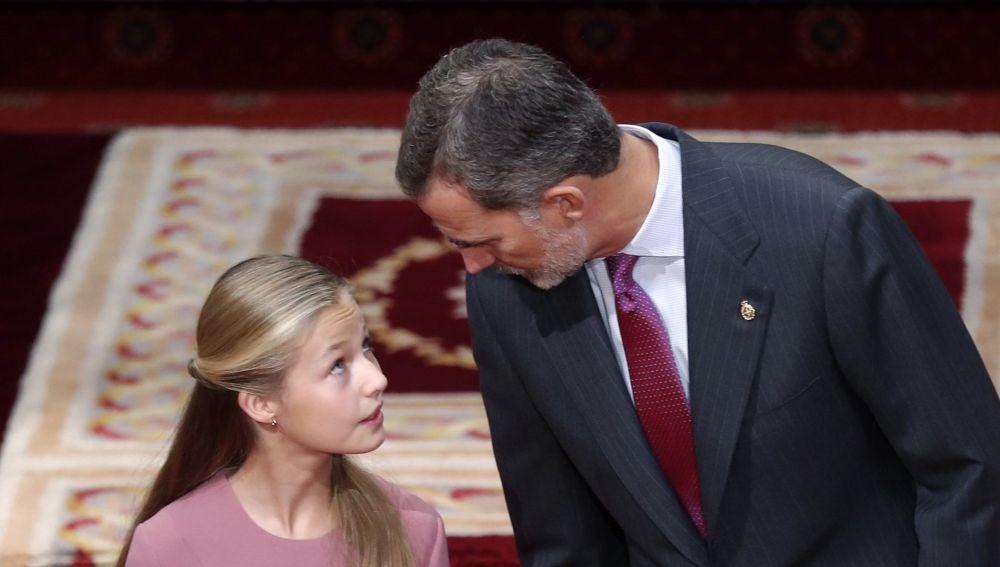 El rey Felipe VI y la princesa de Asturias.