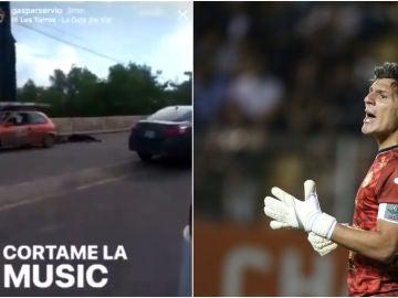 Gaspar Servio, jugador de Dorados, y sus polémicos mensajes en Instagram