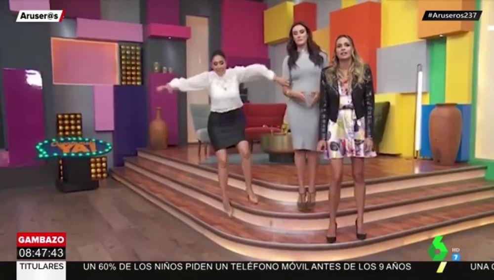 Una presentadora de televisión pierde el conocimiento al sufrir una caída en plató