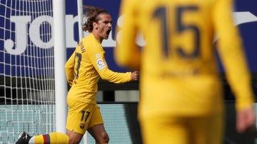 Antoine Griezmann celebra un gol del Barça