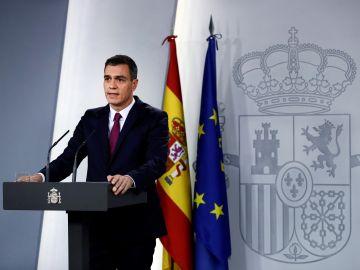 Imagen de archivo de Pedro Sánchez en Moncloa