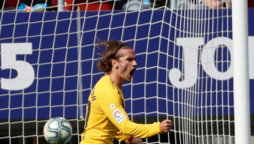 Griezmann celebra un gol con el Barcelona