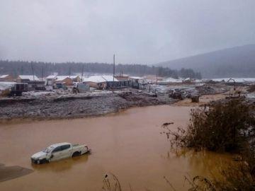 Derrumbe de una presa en Siberia