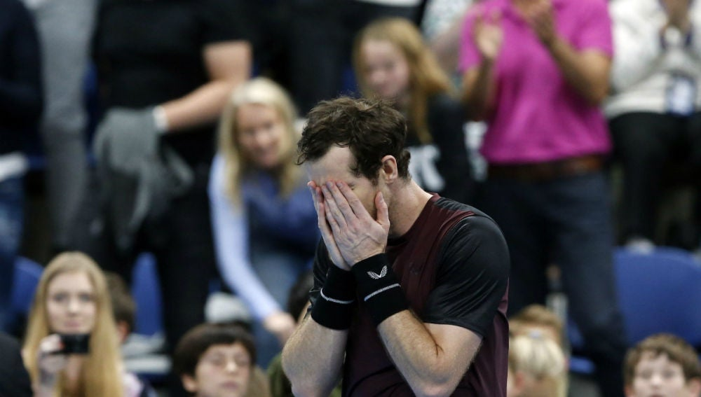 Andy Murray, llorando