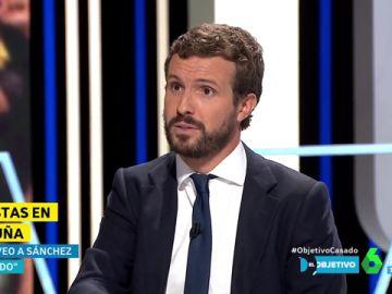 """Pablo Casado: """"Sánchez tiene que coger el teléfono a Torra para decirle que rompe cualquier acuerdo institucional"""""""