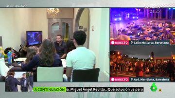 Una familia catalana habla de los disturbios desde su casa