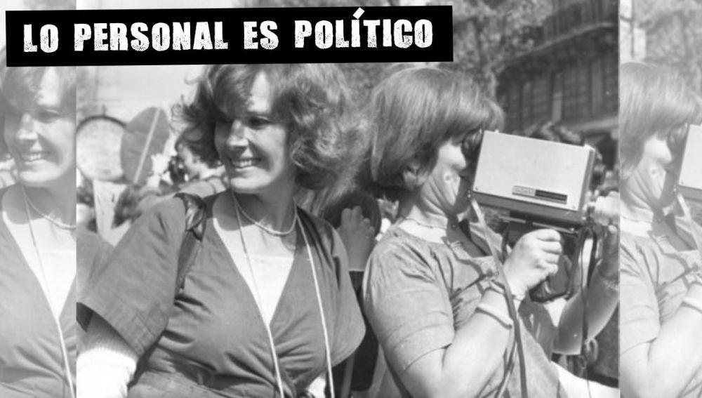 Las Insumusas en una manifestación en 1976