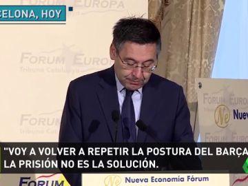 """Bartomeu condena los actos violentos en Cataluña: """"La violencia no es la solución"""""""