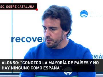 """Alonso, sobre Cataluña: """"Me da mucha tristeza; tenemos que sentirnos más orgullosos de España"""""""