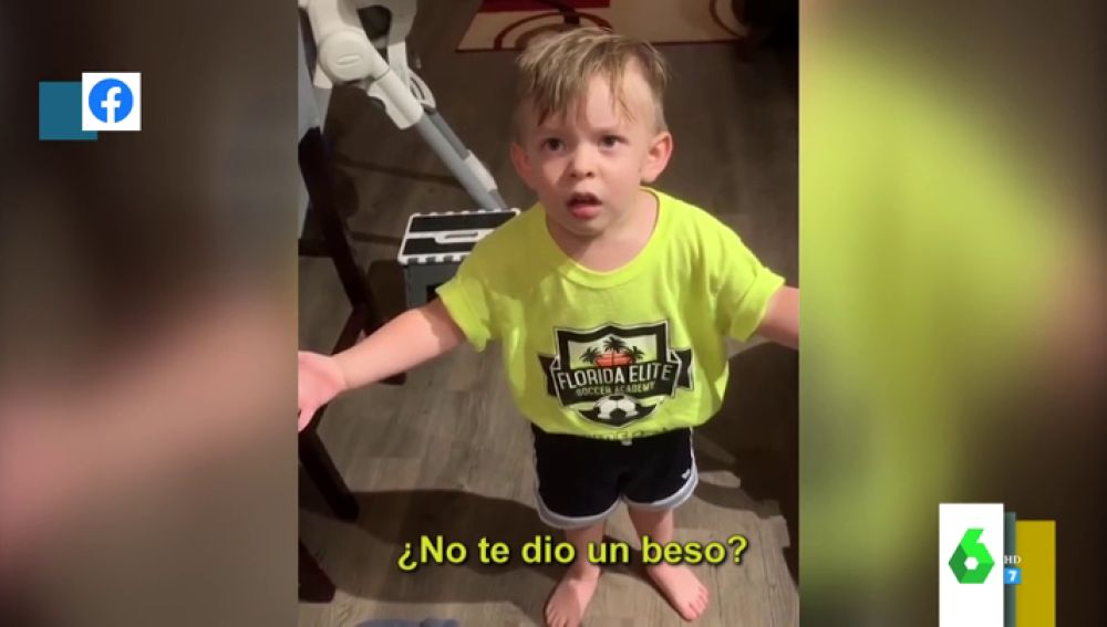 La divertida indignación de un niño