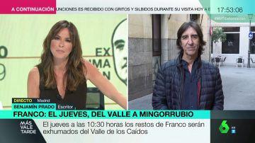 """Benjamín Prado, sobre la familia Franco: """"Piden respeto para sus restos quienes cuando se estaba muriendo vendían sus fotos a la prensa"""""""