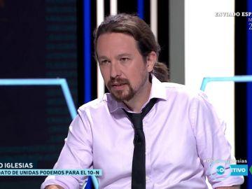 """Pablo Iglesias: """"Cada vez hay más sectores en el independentismo que no tragan a Torra. Prono habrá elecciones"""""""