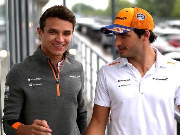 Lando Norris y Carlos Sainz, pilotos de McLaren