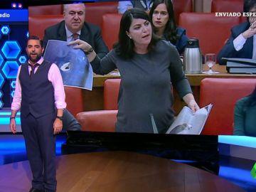 """El momentazo de Macarena Olona, la diputada de Vox que demuestra que se han convertido en """"anti-sistema"""""""